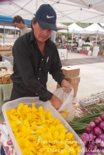 My favorite squash blossom vendor at the farmers market