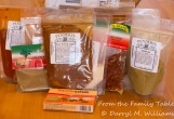 A mail order box of competition chili ingredients