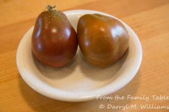 Japanese black trifele tomatoes