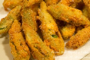 Deep-fried okra