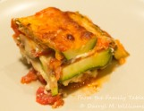 A serving of zucchini lasagna