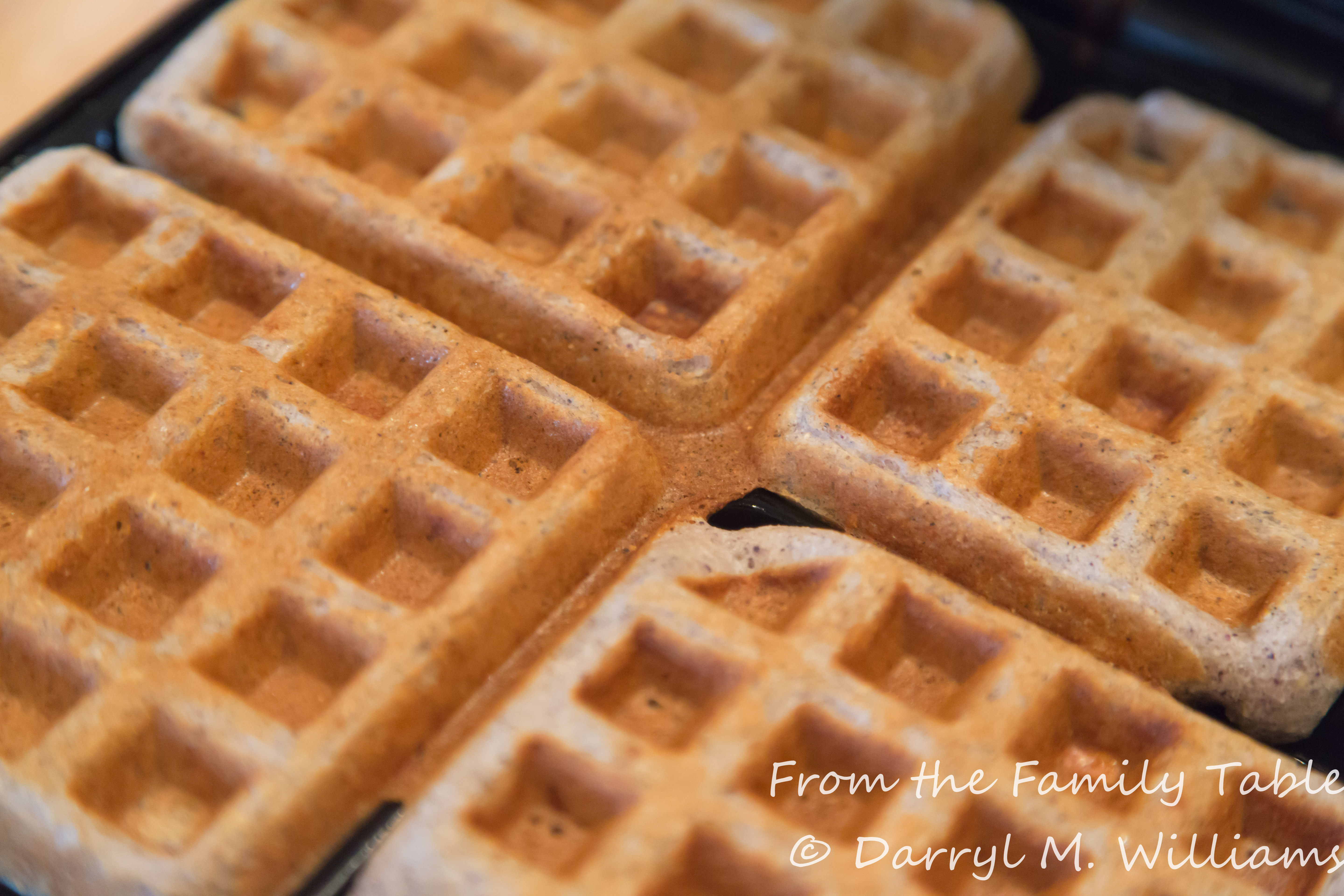 BLUE CORNMEAL WAFFLES WITH PINE NUTS AND BACON | From the ...