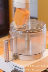 Grating cheese with the food processor