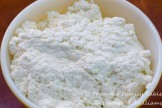 Farm cheese ready for the eggs and salt