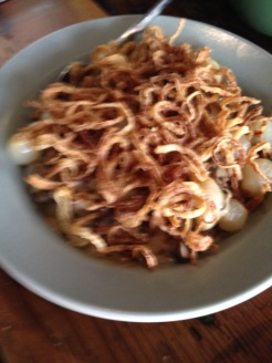 Creamed pearl onions and mushrooms