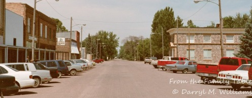 Main street of a North Dakota town