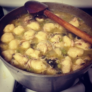Sarah's chicken and dumplings