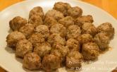 Lamb meatballs browned, sautéed and kept warm