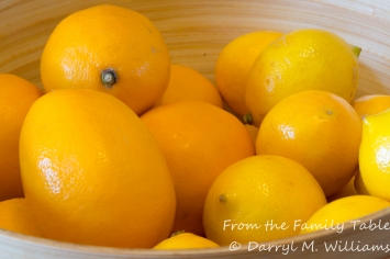 Meyer lemons - from the Marin Farmers' Market on the left and from Whole Foods on the right