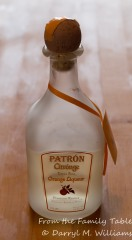 Orange liqueur (my favorite, Patrön Citrónge)