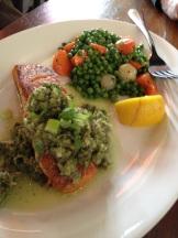 Salmon with Sauce Provencal