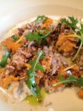 Sea urchin, brown rice, buttermilk
