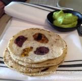 Tortillas Florales with Indian butter
