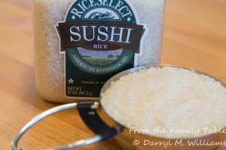Arborio is the traditional rice for risotto, but sushi rice is an even shorter grain and creamier