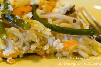 Garlic scape frittata-7