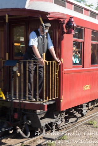 Conductor on the caboose