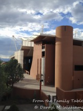 View of the theater of the Santa Fe Opera