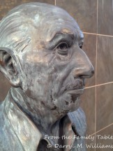 Bust of Igor Stravinsky on the Stravinsky Terrace