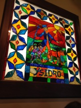 Stained glass mural in tne Turquoise Room