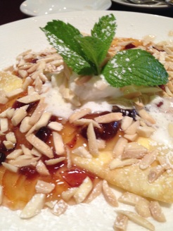 Harvey Girls orange pancakes with almonds