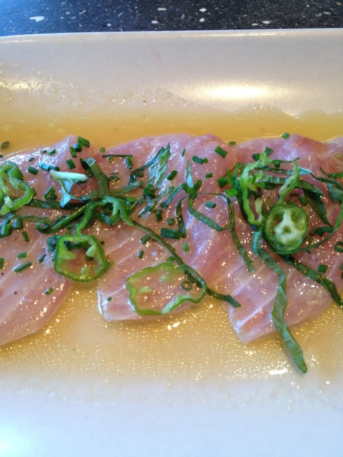 Yellow fin crudo