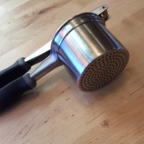 Potato ricer for the yam purée