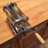 Atlas pasta machine at the ready