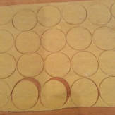 Pasta sheet cut into circles