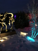 More lights and sculpture
