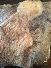 Brisket in the middle of cooking