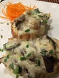 Wild mushroom crostini at the Zin Bistro