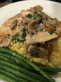 Rockfish with mushroom sauce