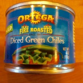 Canned green chiles (You chose how hot!)