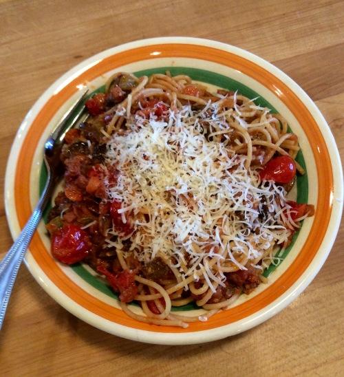 Bogus spaghetti Bolognese