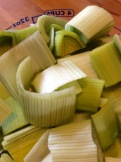 Chopped leeks ready for the Vita-Mix
