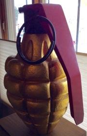 Golden hand grenade. David Horowitz