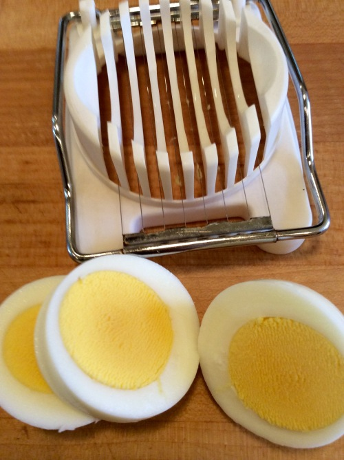Delicate golden yolks with no green ring!