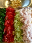 Vegetables prepped for the sauce