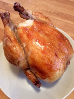 The finished roasted chicken