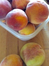 Peaches from our neighbors