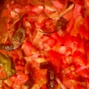Cooking with the tomatoes added