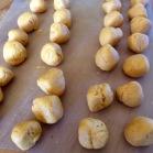 Dough shaped into 32 pieces