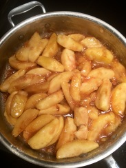 Apples sautéed in butter, sugar, and spices
