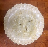 Assembled pie ready for the oven