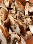 Slices mushrooms