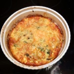 Zucchini and spinach un-quiche