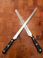 Ham slicer or longer salmon slicer for the thinnest slivers of gravlax
