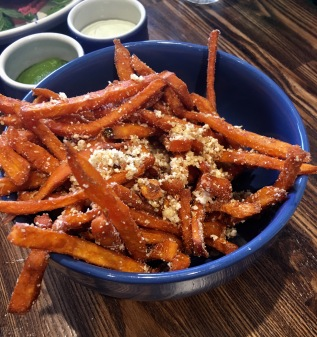 Umami dusted sweet potato fries