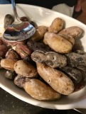 Salt-crusted fingerling potatoes