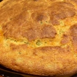 Green chili cheese cornbread